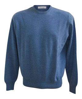 Maglione Gran Sasso Puro Cashmere Azzurro Melange