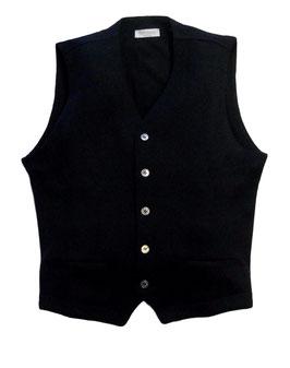 -30% Gran Sasso Gilet Uomo Con Tasche Slim Fit Lana Merinos Blu Notte