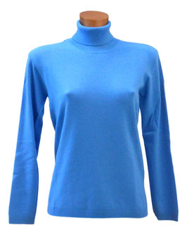 Gran Sasso Donna Dolcevita Misto Cashmere Azzurro