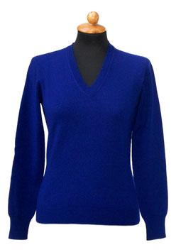 -35% Pullover Gran Sasso Donna Cashmere Lana Viscosa Blu