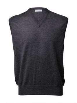 Gran Sasso Uomo Gilet Chiuso ( pullover s/m) Lana Merinos Extra Fine Antracite