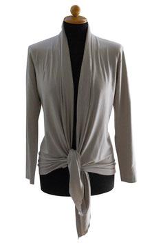 -40% Gran Sasso Donna Cardigan Estivo Beige Cotone e Modal