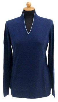 -30% Gran Sasso Donna Lupopull Con Strass Blu
