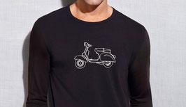-40% Perofil  T-Shirt Moto Manica Lunga Nero/bianco