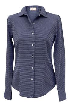 Camicia Ingram Donna Cotone Blu/Bianco