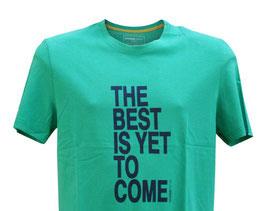 Perofil T-Shirt Mezza Manica Verde Stampa Best