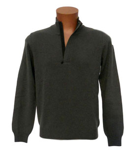 -40% Gran sasso Lupo Zip Verde c/profili in lana e toppe in alcantara