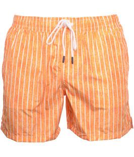 -25% Gran Sasso Costume  Uomo Da Bagno  Boxer Rigato Arancione/Bianco con taschino-poschette.
