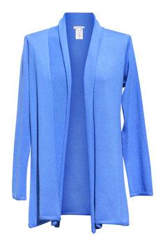 -40% Gran Sasso Donna Maxi Cardigan Cotone Azzurro
