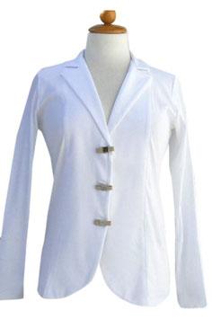 -40% Giacca Gran Sasso Cotone Bianco c/bottoni
