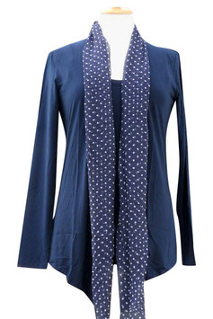 -50% Gran Sasso Donna Tvin Set Blu Cotone Modal e Seta