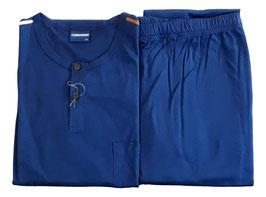 -20% Perofil Vastago Pigiama  Lungo Serafino Jersey Cotone Blu