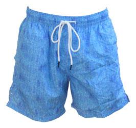 -30% Gran Sasso Costume  Uomo Da Bagno Boxer Celeste con taschino-poschette.