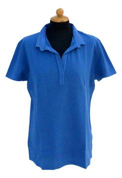 -30% Gran Sasso Vintage Polo Donna Mezza Manica Azzurro