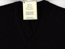 Gran Sasso Pullover Nero Lana Merinos