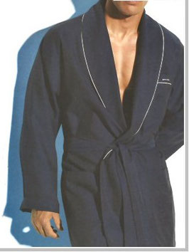 Perofil Vestaglia Cotone Operato Blu