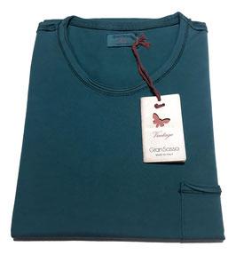 -20% Gran Sasso Vintage T-Shirt Mezza Manica con/taschino Verde