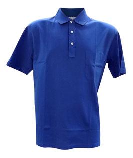-20% Gran Sasso Grandi Taglie Polo Azzurro con taschino in Filo di Scozia