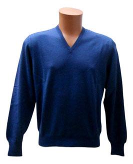 Gran Sasso Pullover Blu Melange Lana Merinos Extra Fine