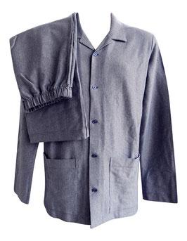 -20% Perofil Hommewear Pigiama Aperto Ciambue Blu-Grigio