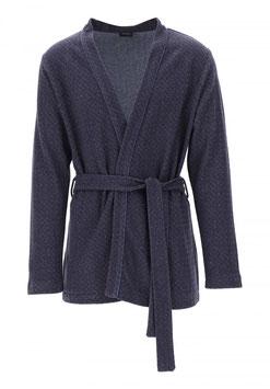 -20% Perofil Giacca Soft Cotton Blu Microdisegno