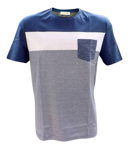 -50% Gran Sasso T-Shirt c/taschino millerighe