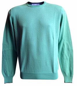 -40% Maglione Uomo Cotton Fresh c/toppe Verde/Antracite