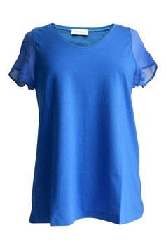 -35% Blusa Gran Sasso Mezza Manica Cotone/Seta Blu