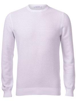-25% Gran Sasso Maglione  Uomo Cotton Fresh Macramè Bianco