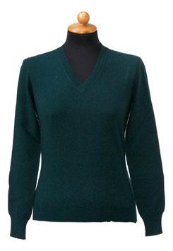 -35% Pullover Gran Sasso Donna Cashmere Lana Viscosa Verde Scuro