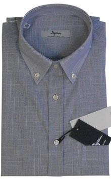 Ingram Camicia Mezza Manica c/taschino Riga Stretta Blu
