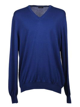 -35% Gran Sasso Pullover Uomo Cotone Blu Chiaro