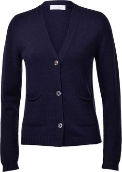 -50% Cardigan Gran Sasso Donna C/Tasche Cashmere e Lana Blu