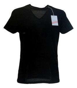 Perofil Filo Di scozia Active T-Shirt a V Nero