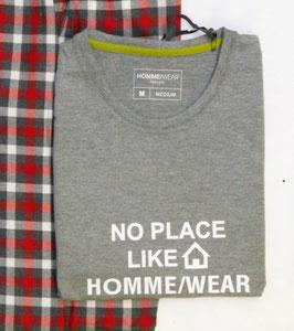 -40% Perofil  T-Shirt  Manica Lunga Grigia Stampa