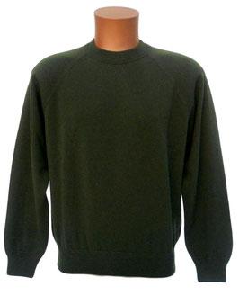 -35% Gran Sasso Girocollo Raglan Cahmere e Lana Verde/grigio