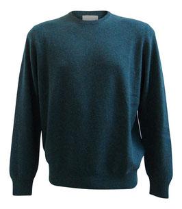 Maglione Gran Sasso Puro Cashmere Verde Melange