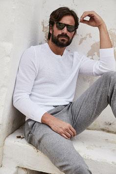 -30% Gran Sasso Maglione  Uomo Cotton Fresh Macramè Bianco