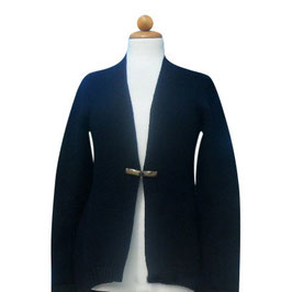 -30% Gran Sasso Maxi Cardigan c/alamaro Pura Lana Blu