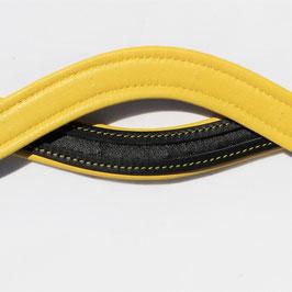 gelb-schwarz geschweift Stirnriemen Rohling - HIG