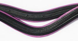 lila/pink-schwarz stark geschweift Stirnriemen Rohling -HIG