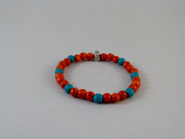 Armband Rost-Orange/Türkis small