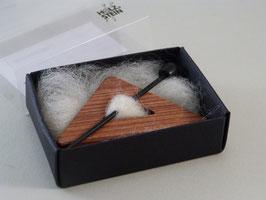 Tuchbrosche Dreieck Veilchenholz - Ebenholz