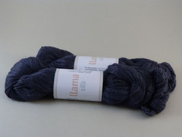 Järbo Llama Silk Fb 12221 Pflaume - Blau - Grau Melange