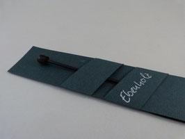 Tuchnadel, Ebenholz, mit Abschlussknopf aus Ebenholz