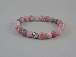Armband Jade gefärbt rosa-grün