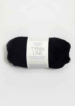Sandnes Tynn Line Farbe 1099 Schwarz