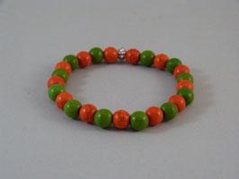 Armband Grün-Orange