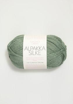 Sandnes Alpakka Silke Farbe 7741 Staubgrün