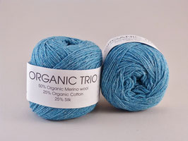 Hjertegarn Organic Trio Fb 5010 Türkis-Blau
